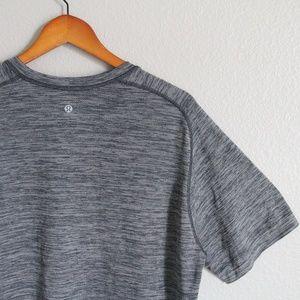 Lululemon Mens Time to Get Dirty Gray Black Shirt
